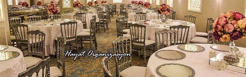 düğün ve davetlerde süslemeler