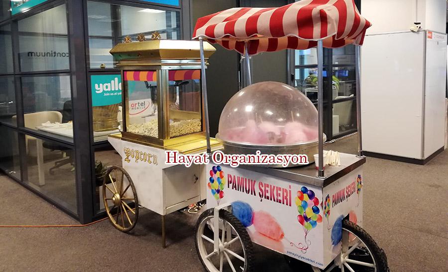 pamuk şeker arabaları kiralama organizasyonu