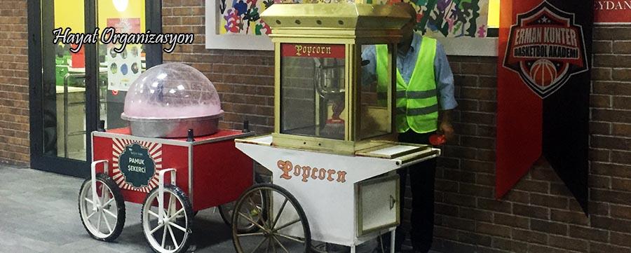 kiralık pamuk şekerci ve popcorncu fiyatı