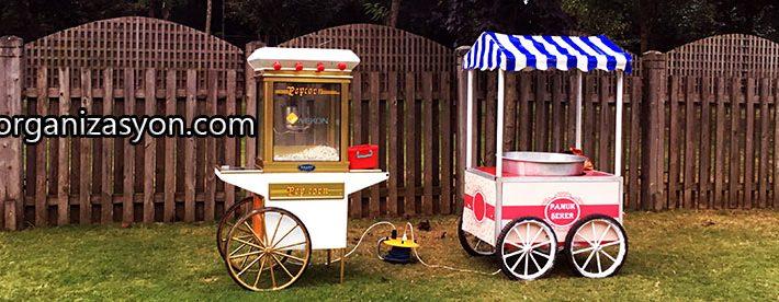 popcorn arabası kiralama servisi