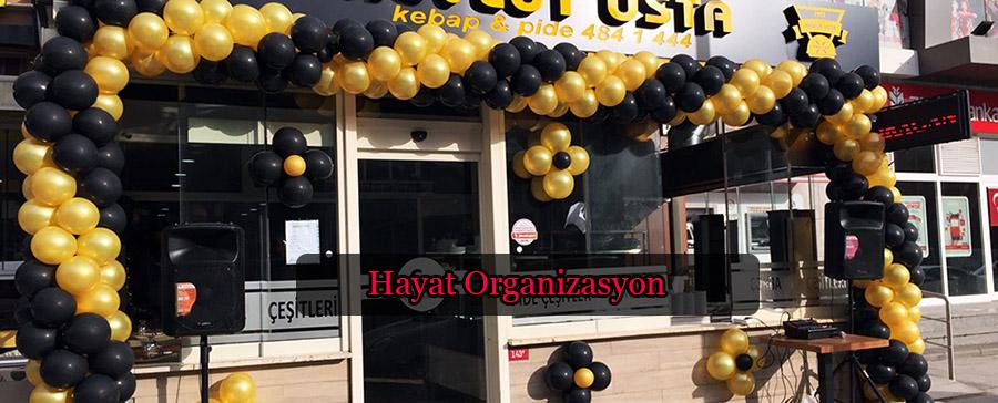 açılış organizasyonu zincir balon süsleme