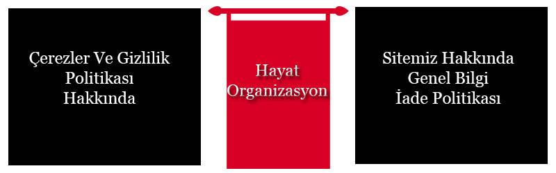 hayat organizasyon çerez politikası