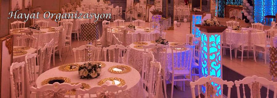 düğün davet masa sandalye süsleme