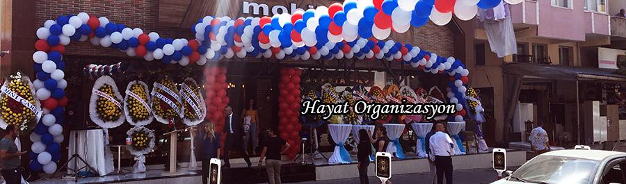 dükkan açılışında balon süsleme servisi