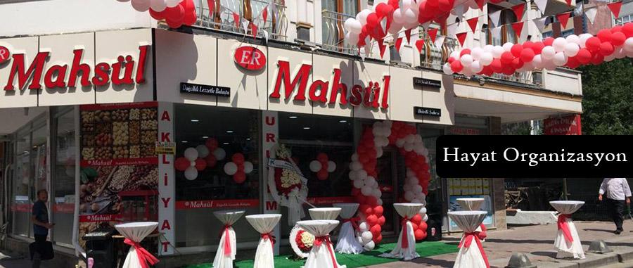 işyeri açılış organizasyonu balon süsleme