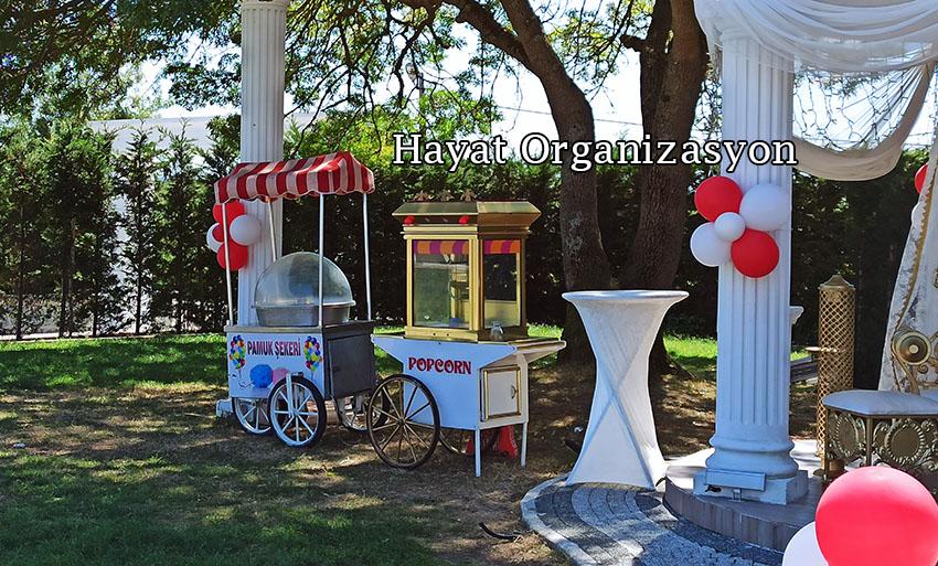 sünnet organizasyonu pamuk şekeri ve popcorn arabası kiralama