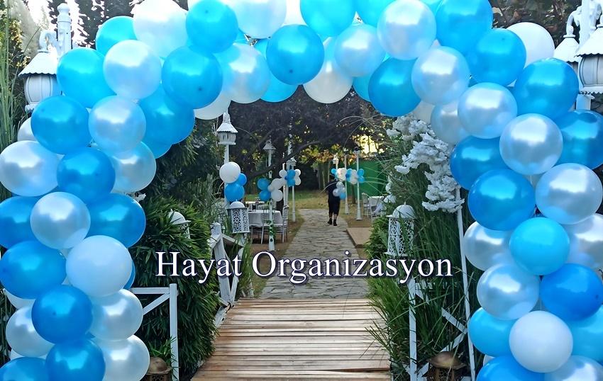 sünnet düğün organizasyon zincir balon süsleme